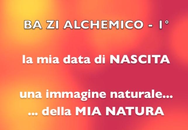 VIDEO YOUTUBE Ba Zi Alchemico - 1°